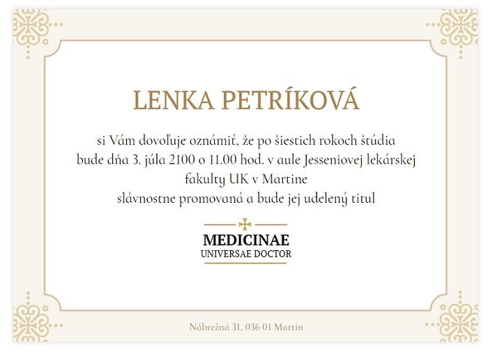 5788f5e6a0eb Promočné oznámenie lekárska fakulta