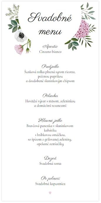 4d1dbfef4db3 Svadobné menu hortenzia